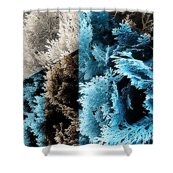 abstract geometric cypress shower curtain