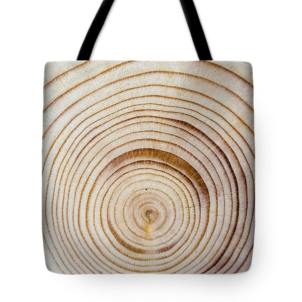 Concentric tree rings tote bag