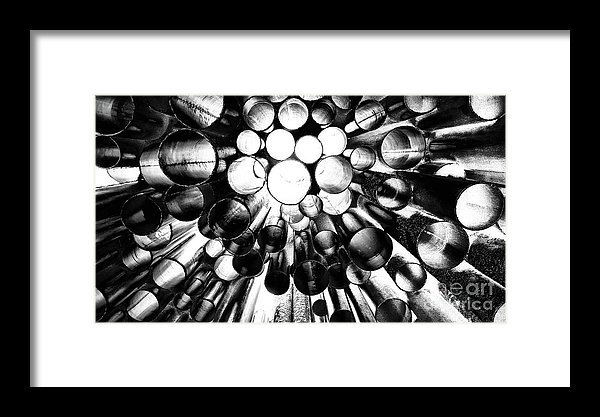 Sibelius monument from below print