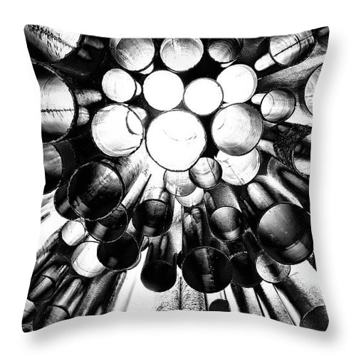 Sibelius monument from below throw pillow