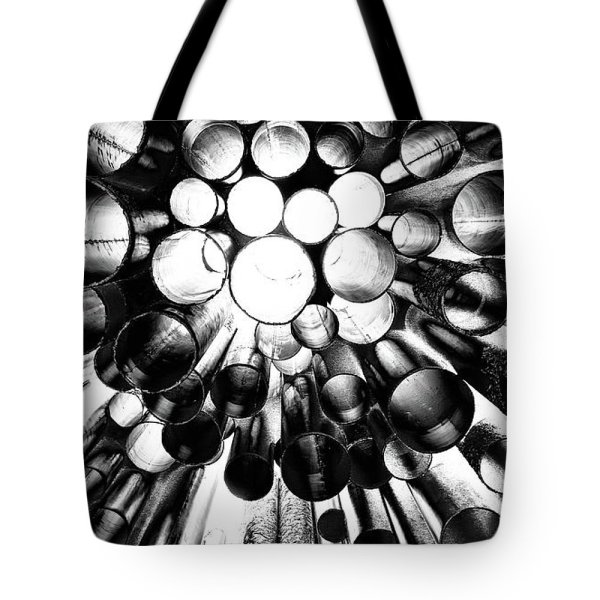 Sibelius monument from below tote bag