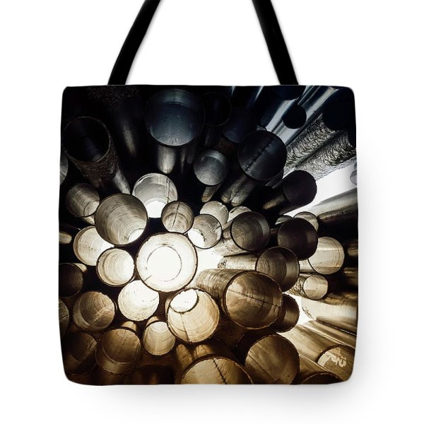 perspective circles photograph tote bag