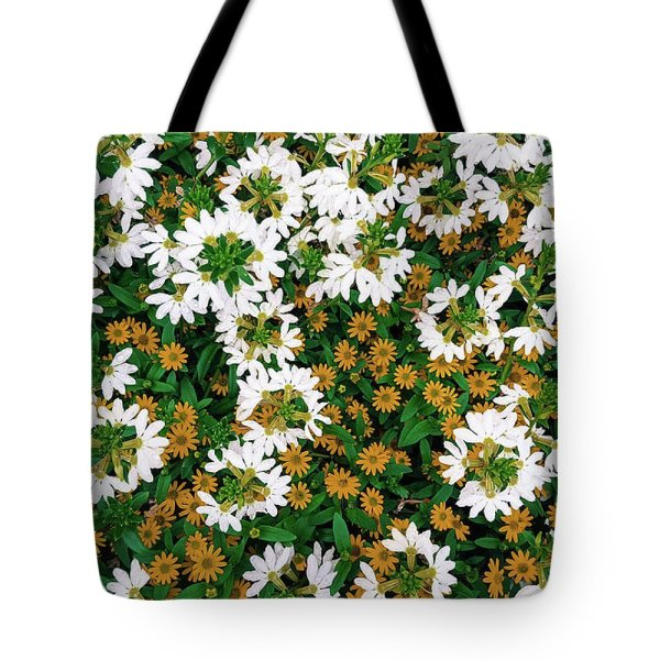 floral texture photograph tote