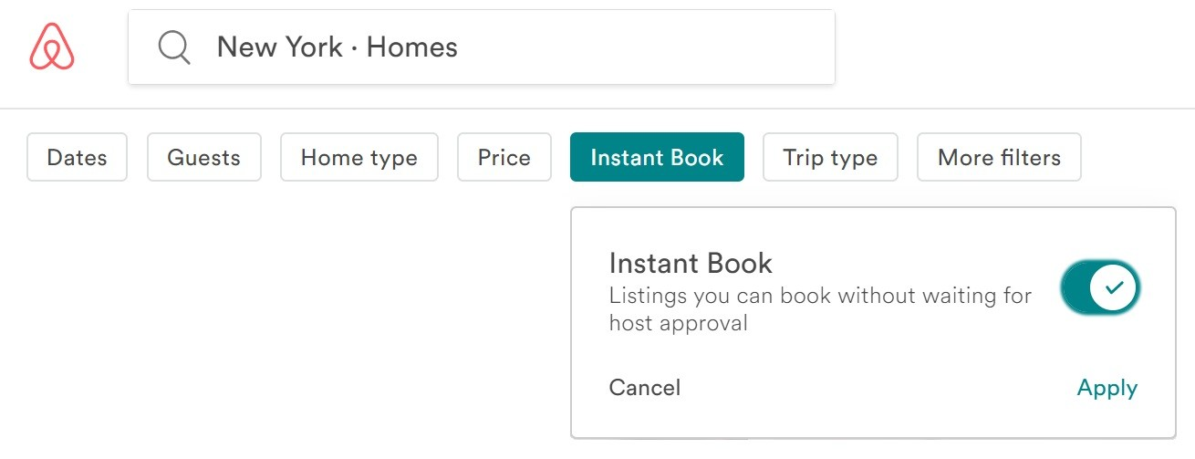 Image result for airbnb instant book