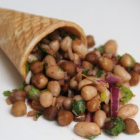 Peanut and beans chaat / salad