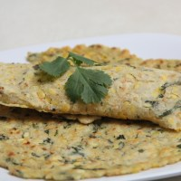 Jowar and rice flour roti