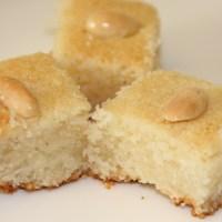 Eggless Bosbousa / rava cake / semolina cake