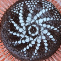 Eggless ragi / red millet chocolate cake