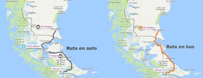 mapa ruta ushuaia