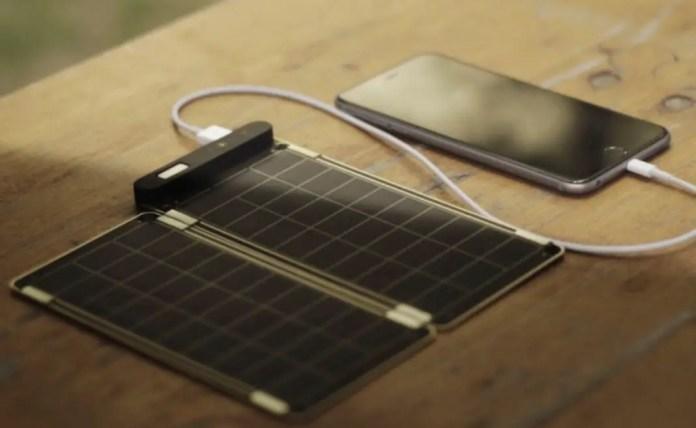 Cargador solar para viajar