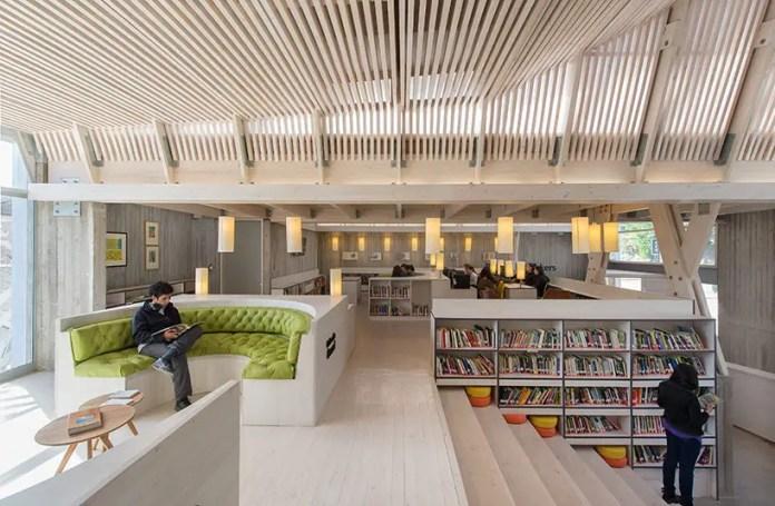 biblioteca binhai en tianjin