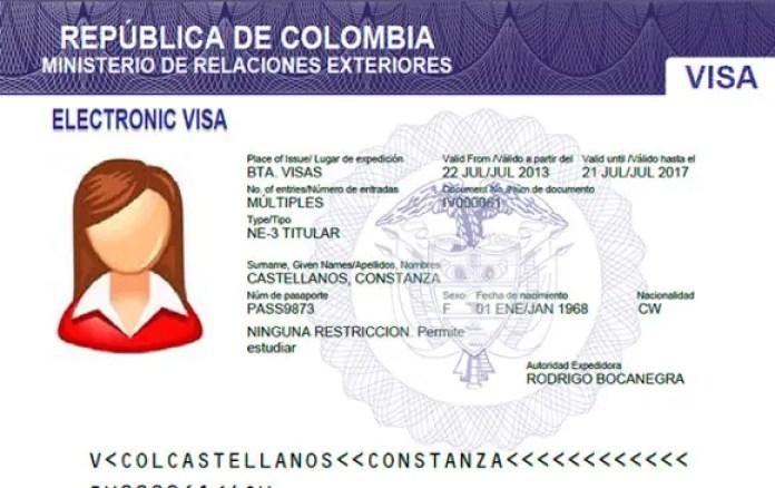 visas para ingresar a Colombia