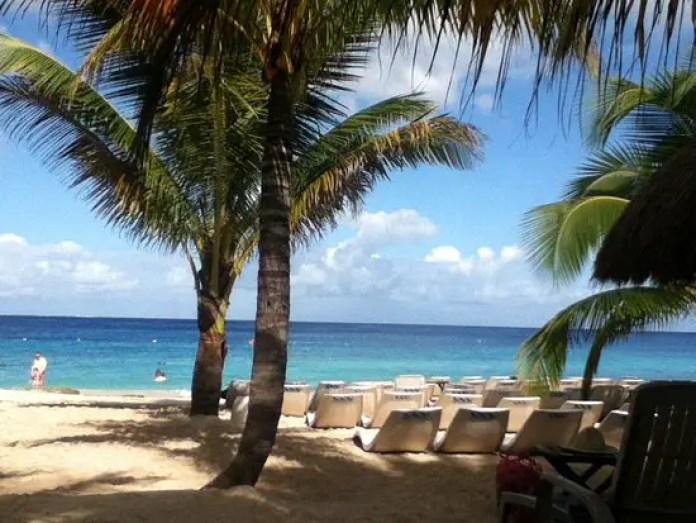 playas de cozumel mapa