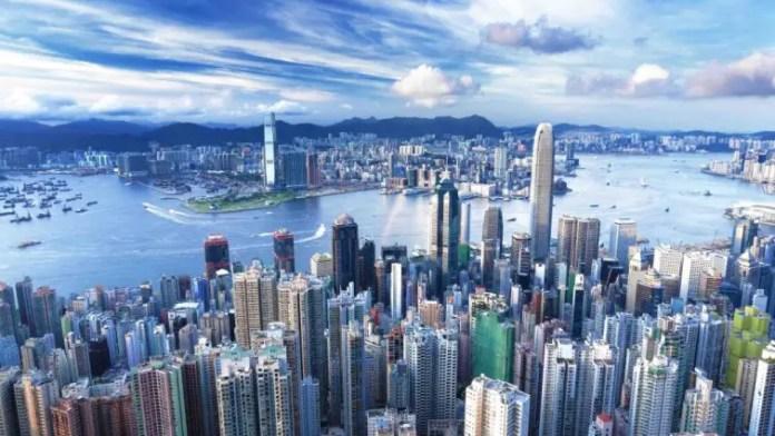 Hong kong desde el aire