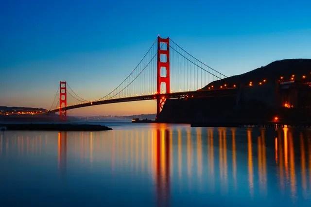puente colgante en san francisco