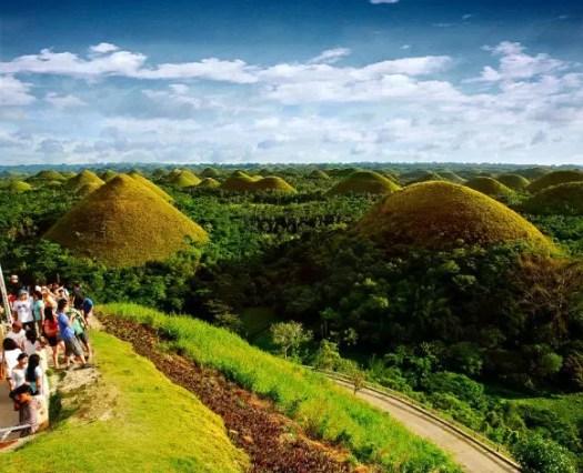 colinas de chocolate en Filipinas