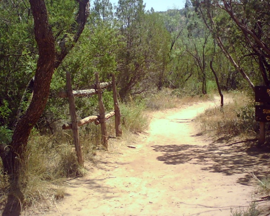 one of the palo duro canyon hiking trails