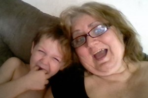 Grandma and Grandson Having Fun Taking a Selfie
