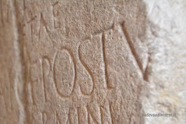 Pozzoveggiani - iscrizione interna ©RobertaZago padovaedintorni.it