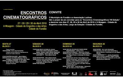 """Convite """"Encontros Cinematográficos VIII Edição"""""""