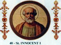 Święty Innocenty I, papież (27.07.2017)