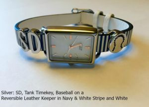KEEP PADw - silver on stripe & watch