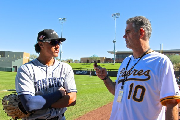 Padres Outfielder, Nick Torres, at the Arizona Fall League; Photo by Rebecca Herman