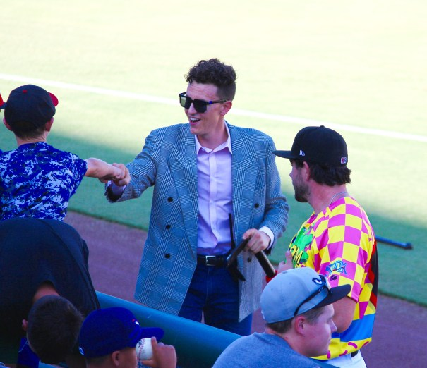 Lake Elsinore Storm Double Dare Night Tyler Zickel as Marc Summers