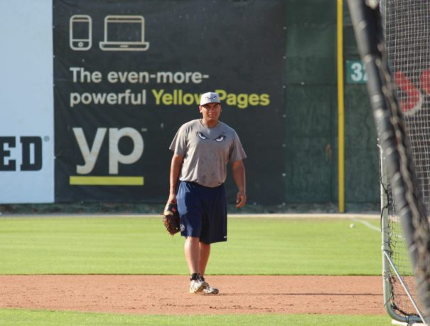 Lake Elsionore's, Josh Naylor, during practice while at Bakersfield