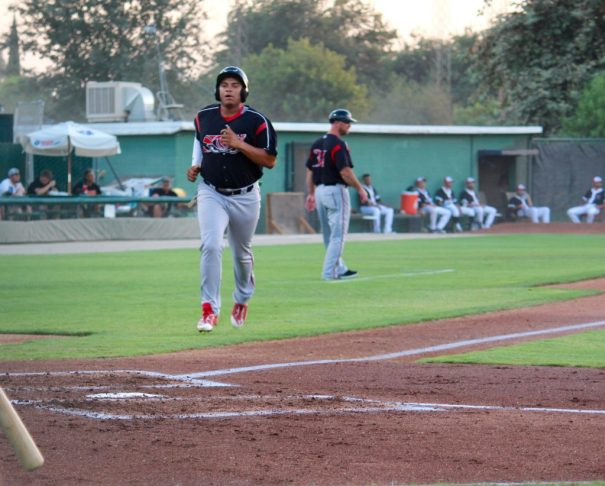 Lake Elsinore's, Josh Naylor, coming in for a HR at Bakersfield