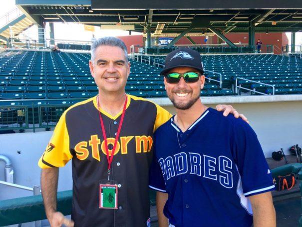 Wayne McBrayer with Kyle McGrath at Arizona Fall League