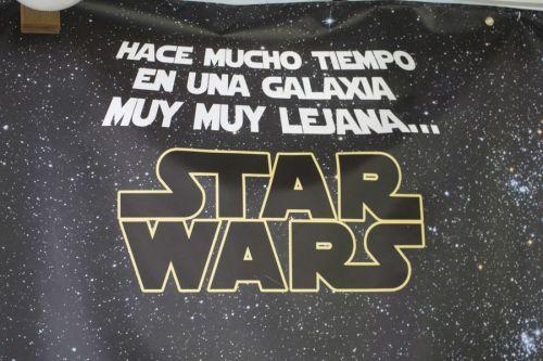 Pancarta Star Wars para cumpleaños