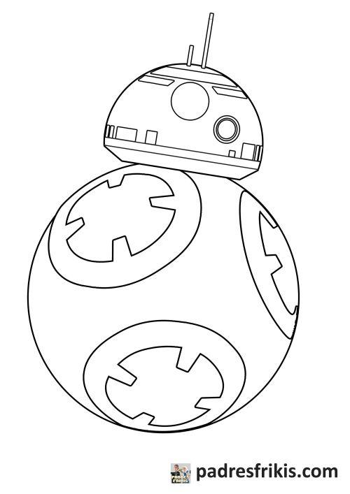 Dibujos para colorear - Star Wars - BB 8