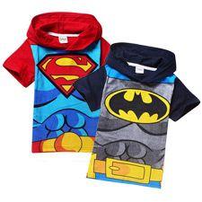 Camisetas infantiles Batman y Superman