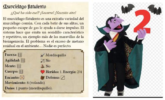 Ficha del Conde Drácula