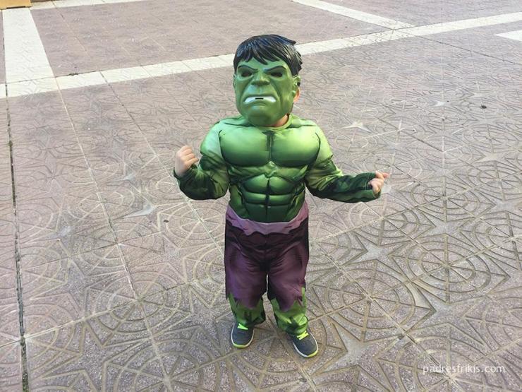 Disfraz infantil de Hulk