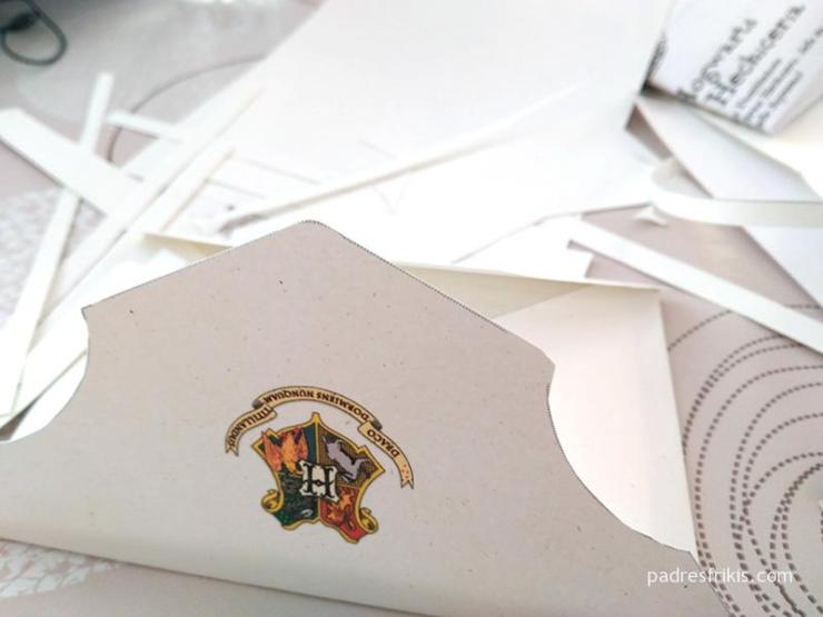 Prueba de impresión carta Hogwarts