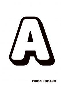 Letra A para imprimir en mayúscula