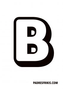 Letra B para imprimir en mayúscula