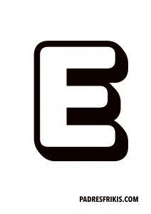 Letra E para imprimir en mayúscula