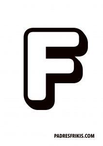 Letra F para imprimir en mayúscula