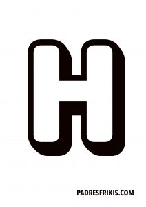 Letra H para imprimir en mayúscula