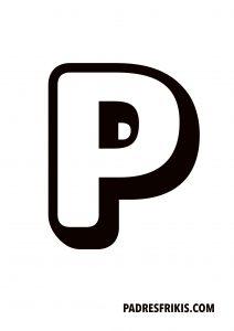 Letra P para imprimir en mayúscula