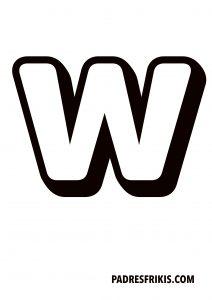 Letra W para imprimir en mayúscula