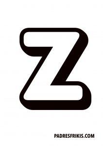 Letra Z para imprimir en mayúscula