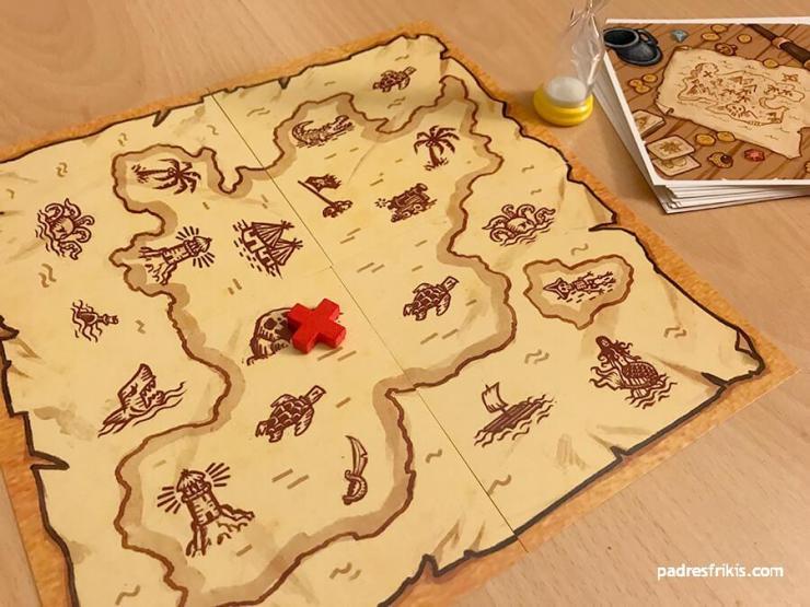 Mapa con la X que indica el tesoro
