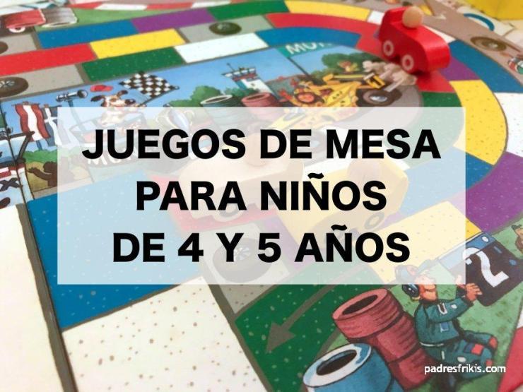 Mejores juegos de mesa para niños de 4 y 5 años