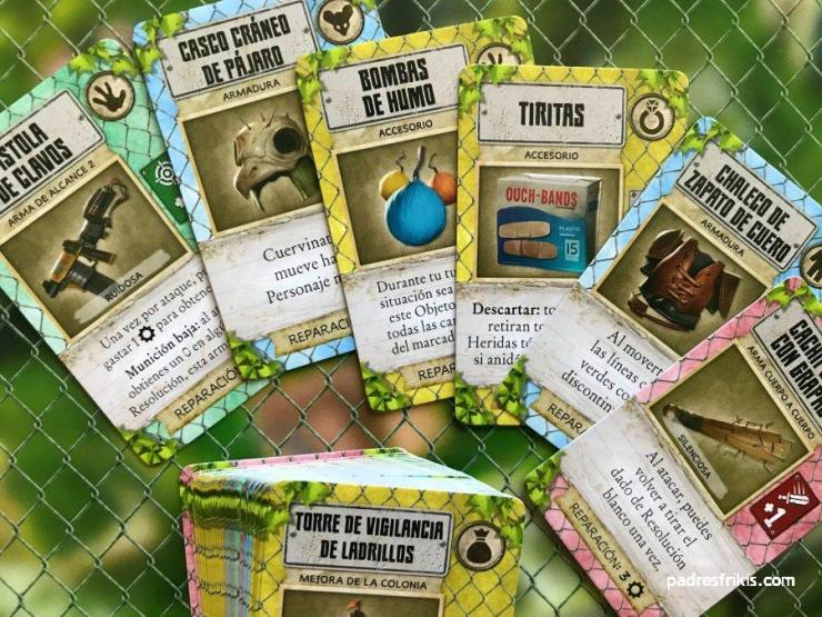 Algunos de los muchos objetos del juego