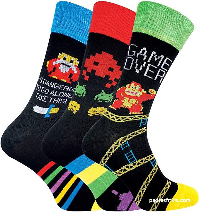 Calcetines de videojuegos retro para adultos