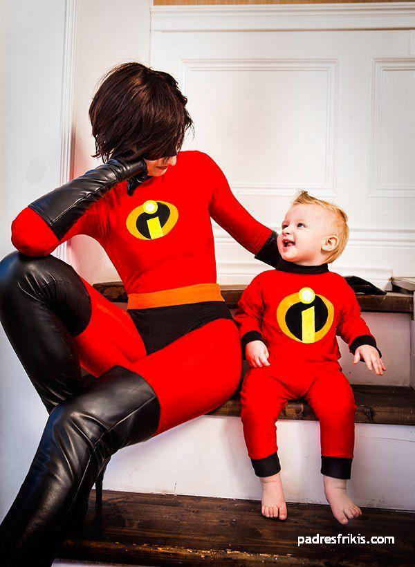 Disfraz madre y niño Elastic Girl Jack-Jack